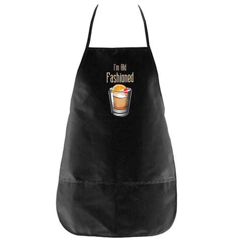 The I'm Old Fashioned Apron in Black - Foodie Fatale