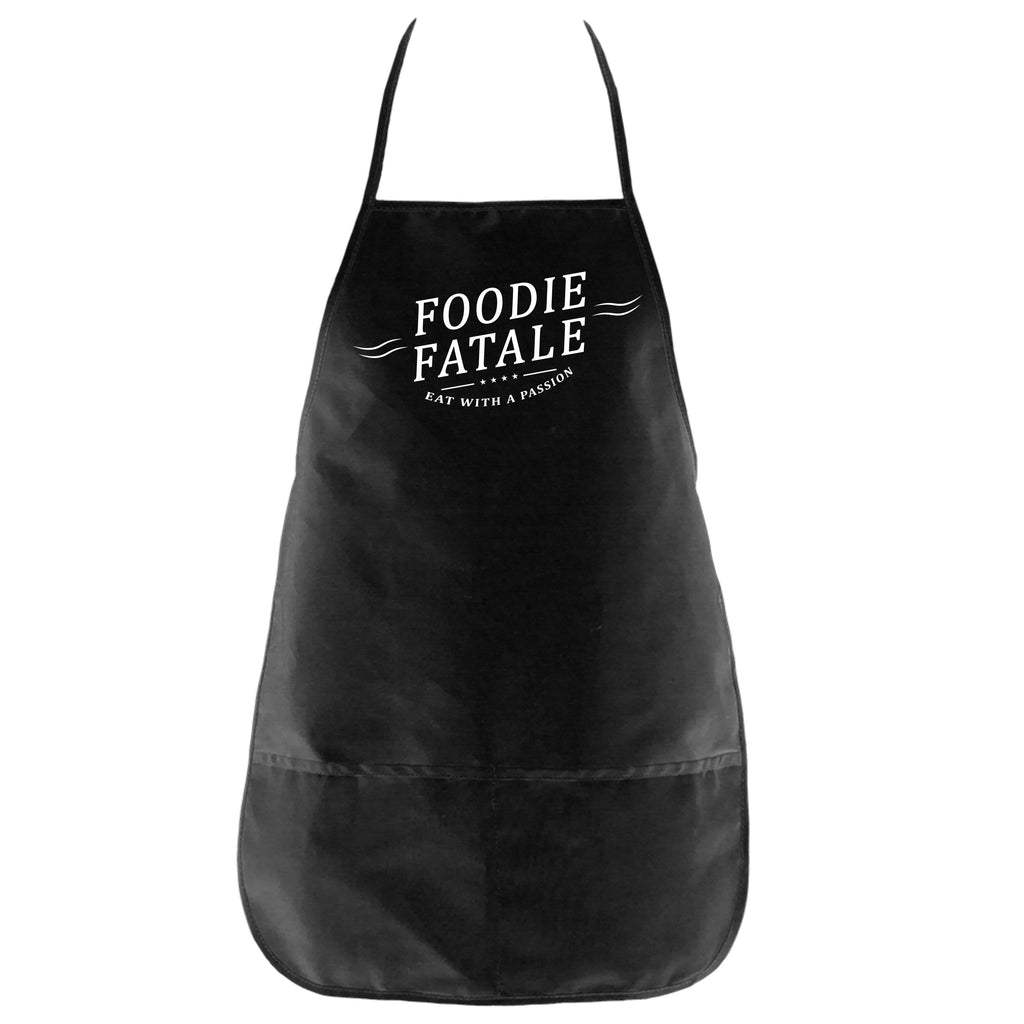 The Foodie Fatale Apron in Black - Foodie Fatale