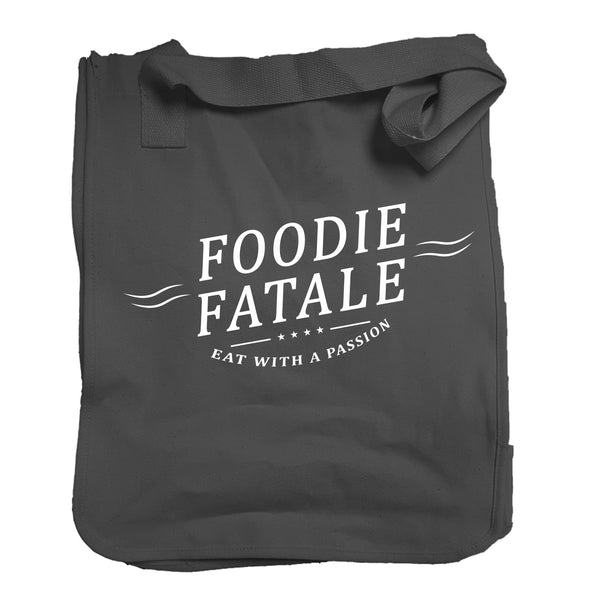 The Foodie Fatale Tote in Black - Foodie Fatale