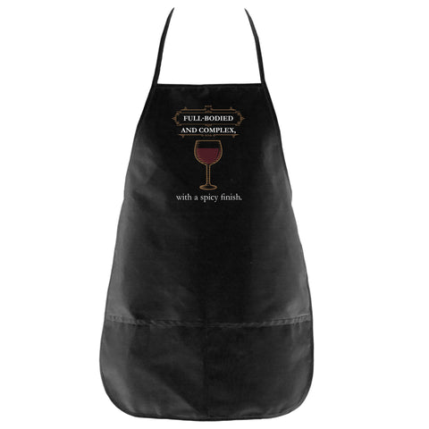 The Full-bodied and Complex Apron in Black - Foodie Fatale