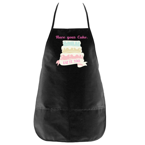 The Have Your Cake Apron in Black - Foodie Fatale