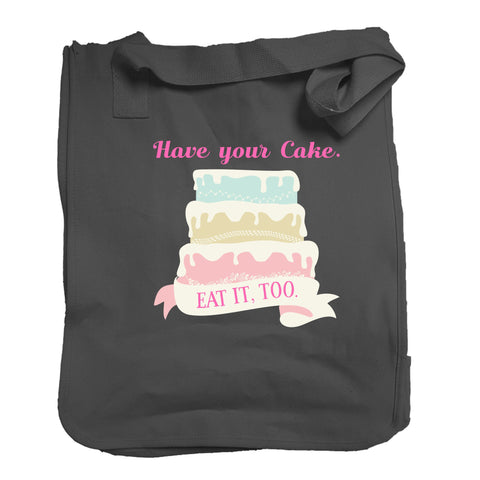 The Have Your Cake Tote in Black - Foodie Fatale