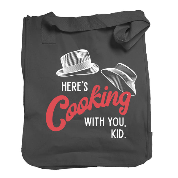 The Here's Cooking With You Tote in Black - Foodie Fatale