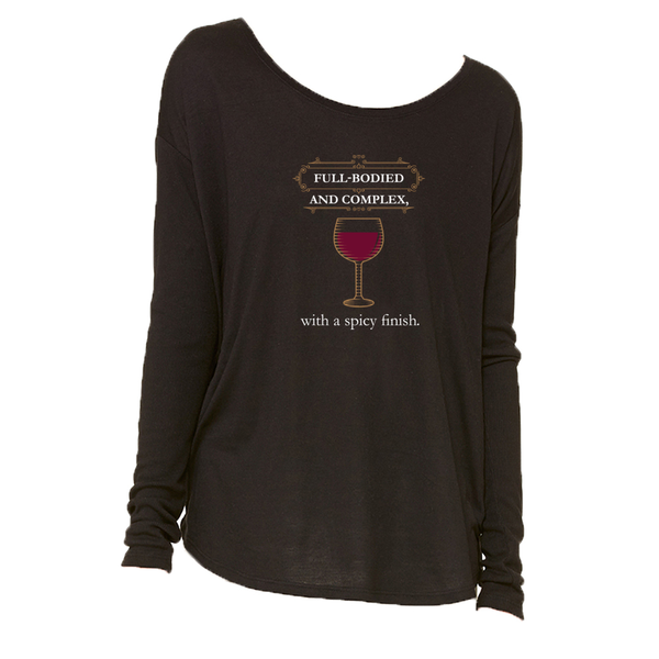 The Full-Bodied Long-Sleeve T-Shirt in Black - Foodie Fatale