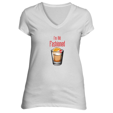 The I'm Old Fashioned Short Sleeve T-Shirt in White - Foodie Fatale