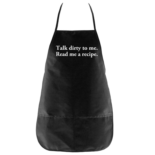 The Talk Dirty To Me Apron in Black - Foodie Fatale