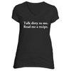 The Talk Dirty Short Sleeve T-Shirt in Black - Foodie Fatale