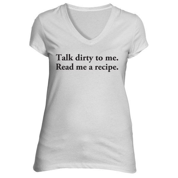 The Talk Dirty To Me Short Sleeve T-Shirt in White - Foodie Fatale