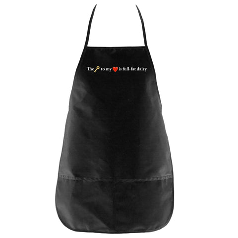 The Key to My Heart Apron in Black - Foodie Fatale