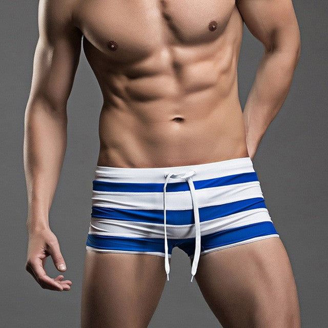 SUPERBODY Stripped Swim Trunks