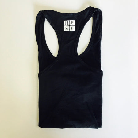 Tri-blend Black and White Fitted Women's Tank Top