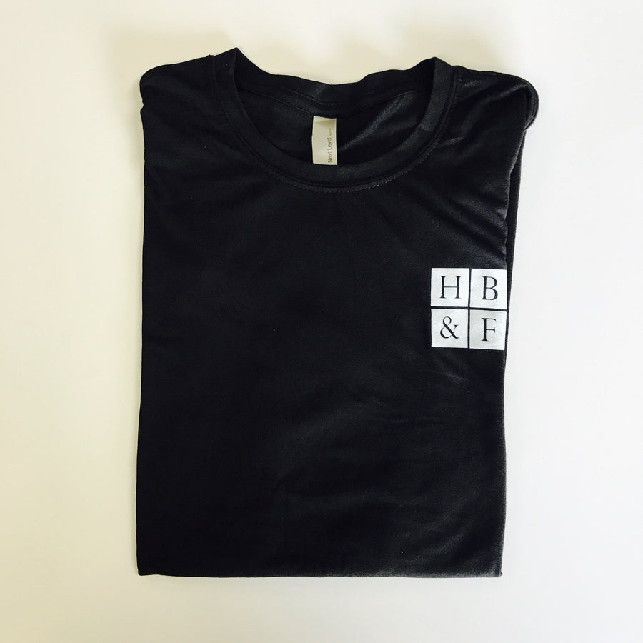 Tri-blend Black and White Fitted Men's T-Shirt
