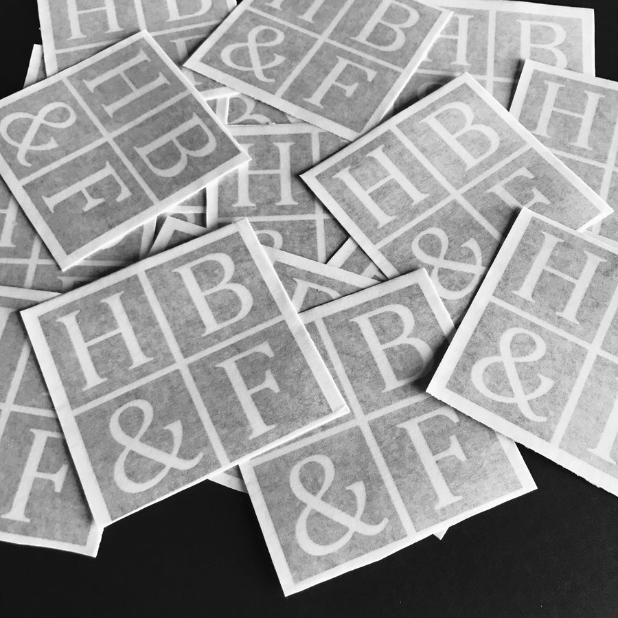 Vinyl Cut HBandF Decals