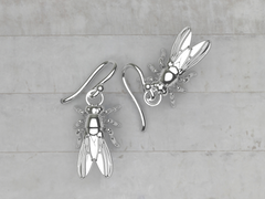 sterling silver drosophila earrings