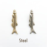 zebrafish pendants steel comparison