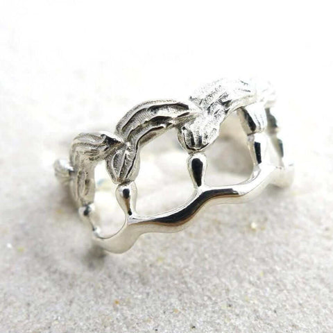 Science Jewelry: silver kelp ring