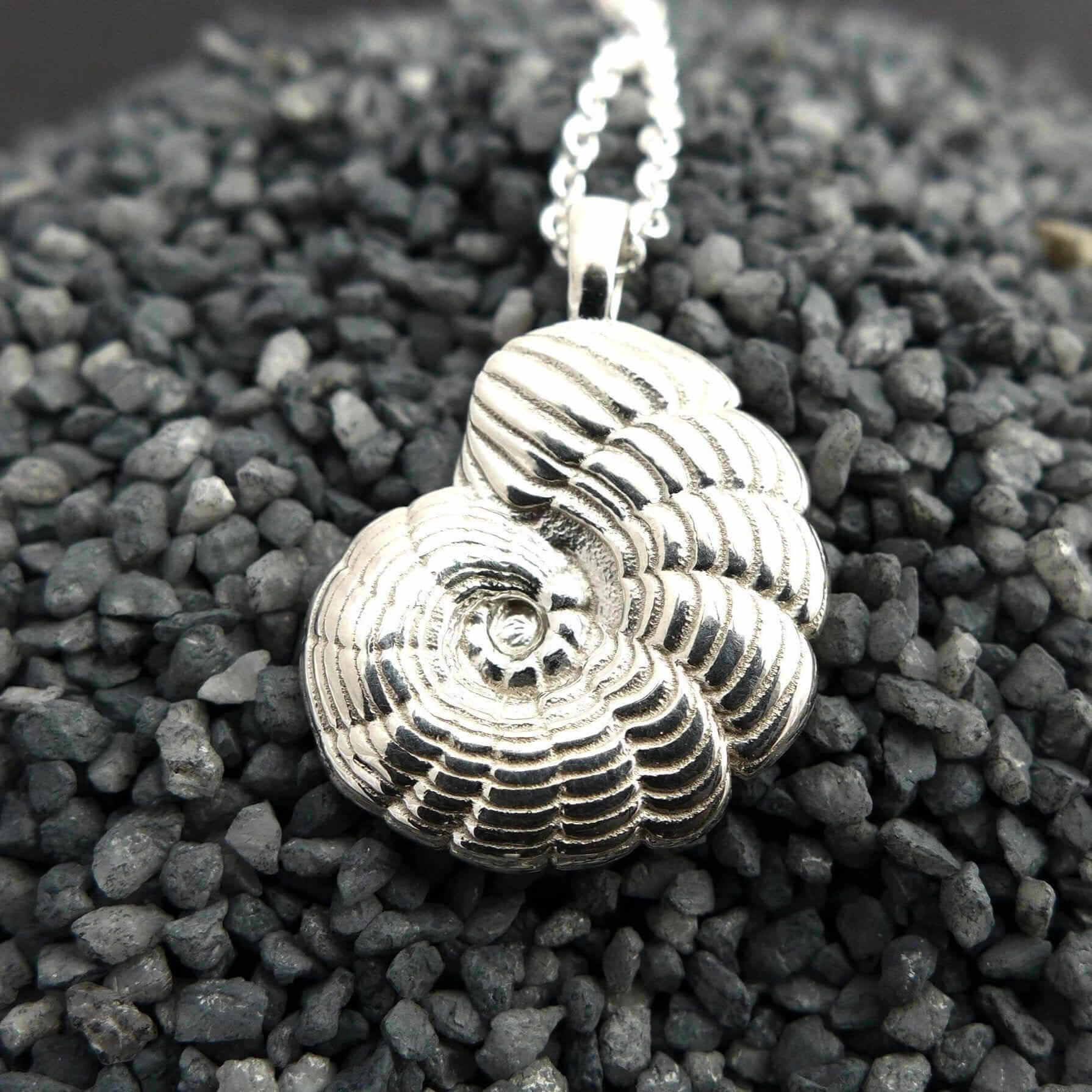 Peneroplis Foraminiferan Pendant Pendant [Ontogenie Science Jewelry]