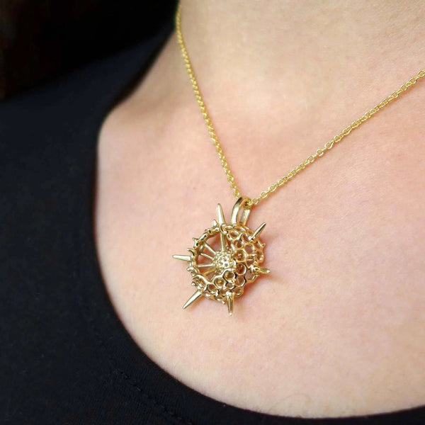 Spumellaria Radiolarian Pendant, small Pendant [Ontogenie Science Jewelry]