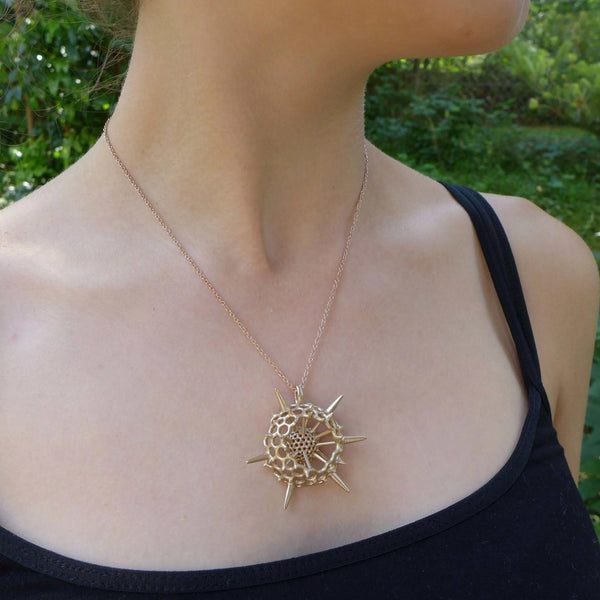 Spumellaria Radiolarian Pendant, large Pendant [Ontogenie Science Jewelry]