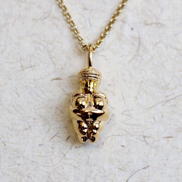 Venus of Willendorf Pendant 14K gold plated brass Ontogenie