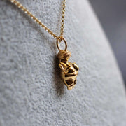 Venus of Willendorf Pendant in 14K gold plated brass Ontogenie Science Jewelry