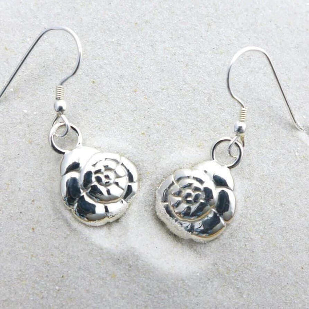 Ammonia tepida Foraminifera Earrings [Ontogenie Science Jewelry] sterling silver