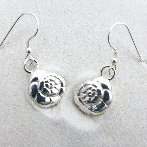 Ammonia tepida Foraminiferan Earrings Earrings [Ontogenie Science Jewelry] sterling silver
