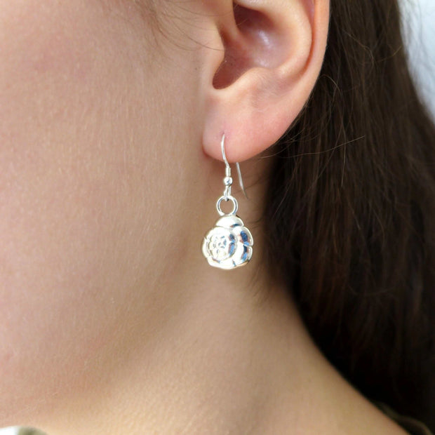 Ammonia tepida Foraminifera Earrings [Ontogenie Science Jewelry]