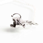anglerfish necklace silver ontogenie science jewelry