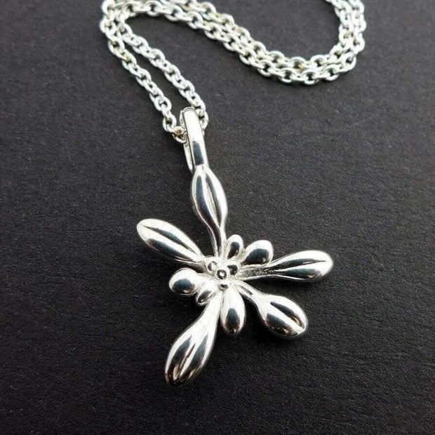Science Jewelry: Small Arabidopsis pendant in silver