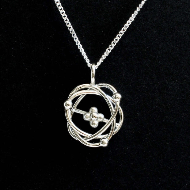 Atomic Model Pendant [Ontogenie Science Jewelry] rutherford bohr model