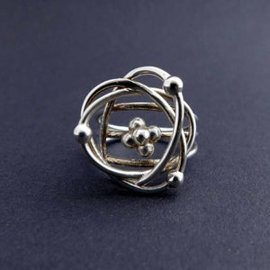 Science Jewelry: Atomic Model Ring in silver