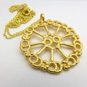Axoneme Cytoskeleton Pendant [Ontogenie Science Jewelry] Gold-plated steel