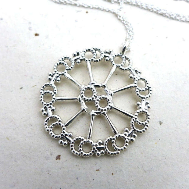 AAxoneme Cytoskeleton Pendant [Ontogenie Science Jewelry] silver