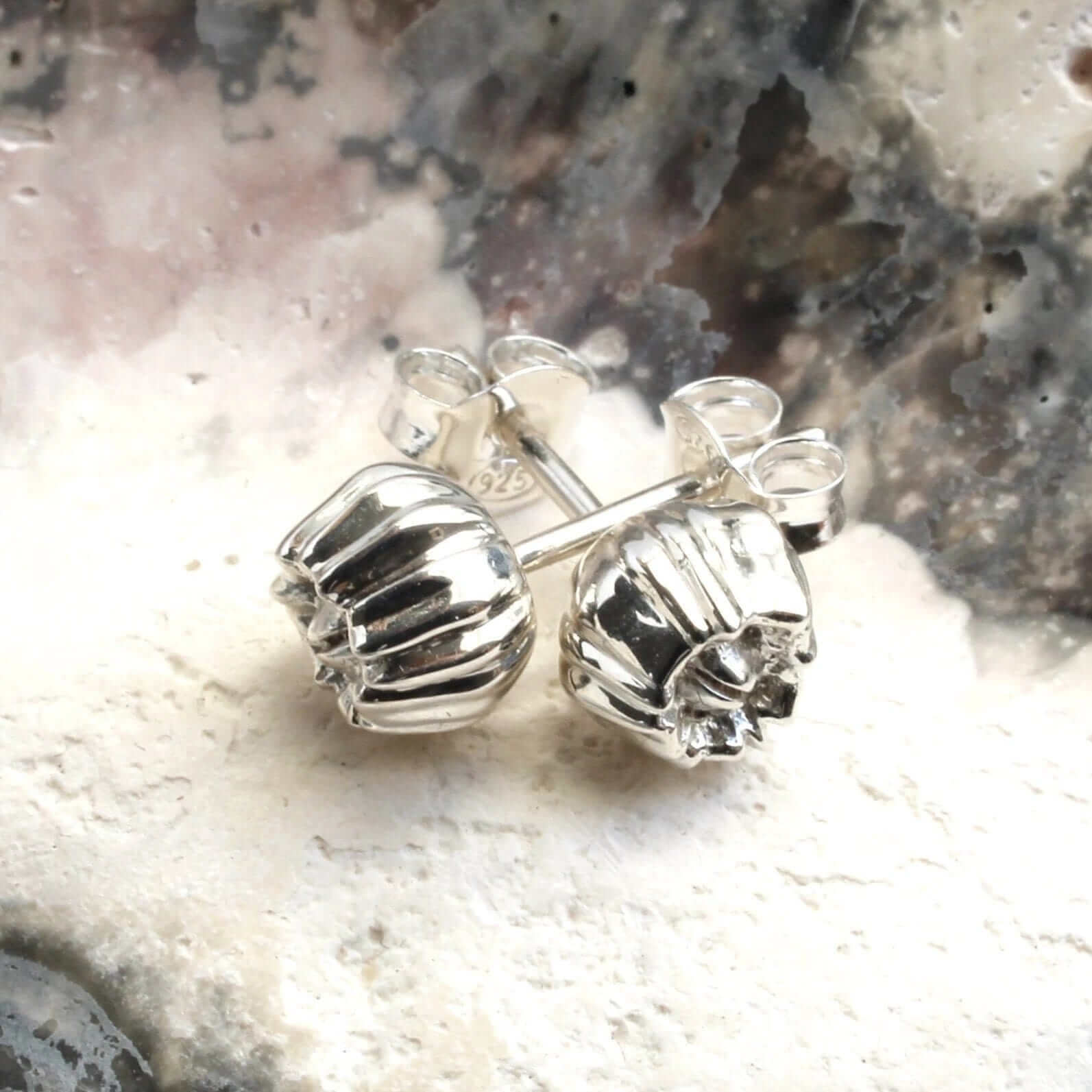 Barnacle earrings in solid sterling silver