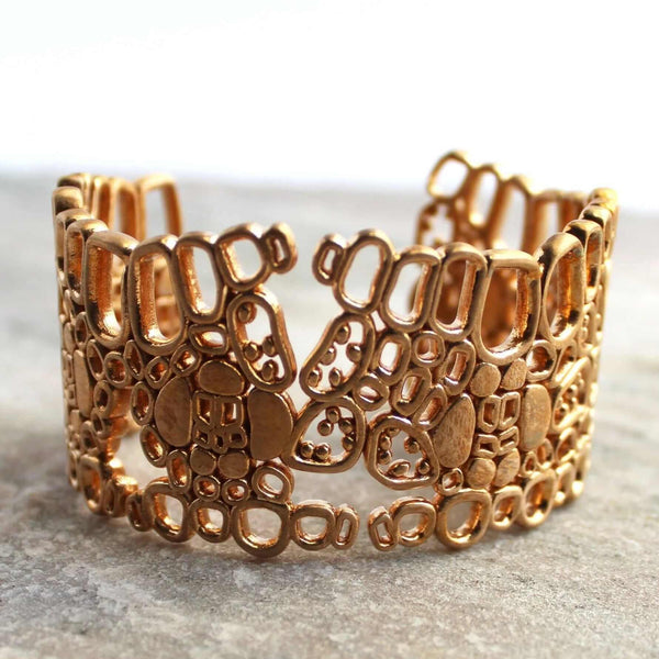 Kranz leaf anatomy cuff in natural bronze