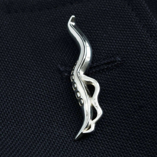 C. elegans Nematode Lapel Pin/Brooch Tie Bar [Ontogenie Science Jewelry]