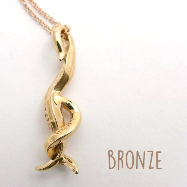 C. elegans Nematode Pendant [Ontogenie Science Jewelry] bronze 40 cm/16 in