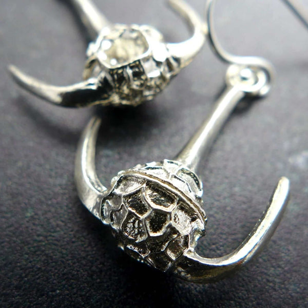 Ceratium Dinoflagellate Earrings in sterling silver