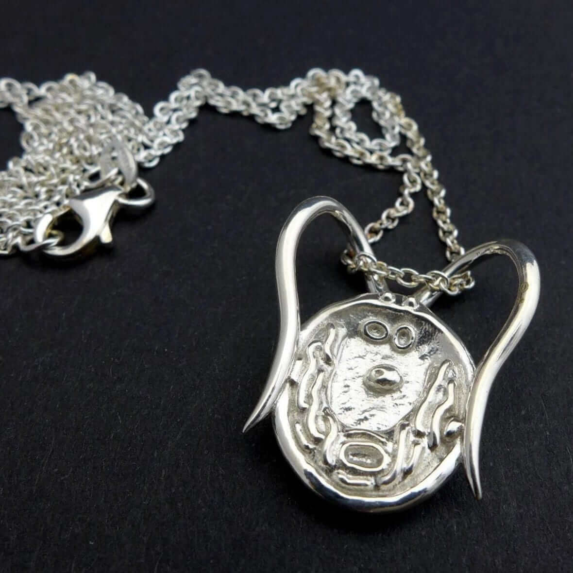 Science Jewelry: Chlamydomonas pendant in polished silver