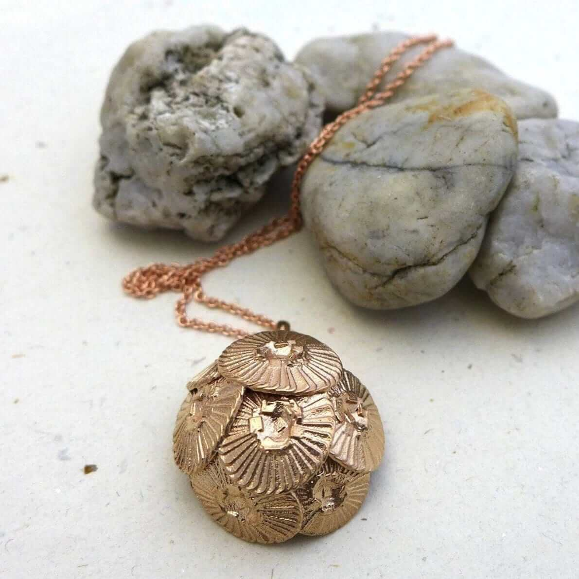 Coccolithus Pendant Pendant [Ontogenie Science Jewelry] bronze 40 cm/16 in