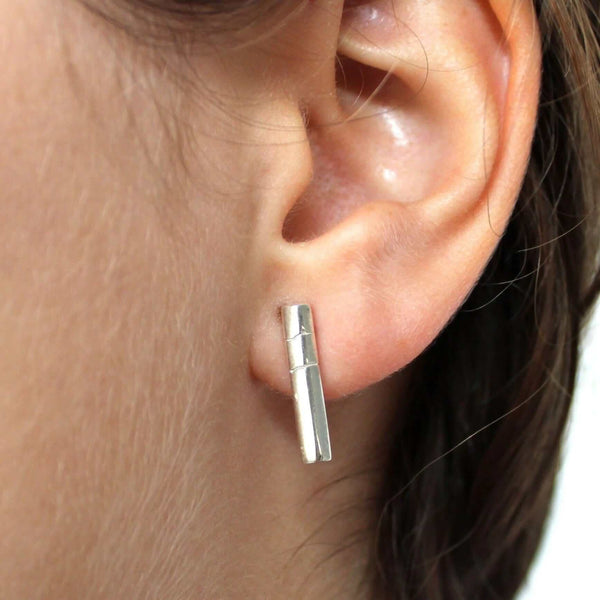 Columnar Basalt Earrings Earrings [Ontogenie Science Jewelry]