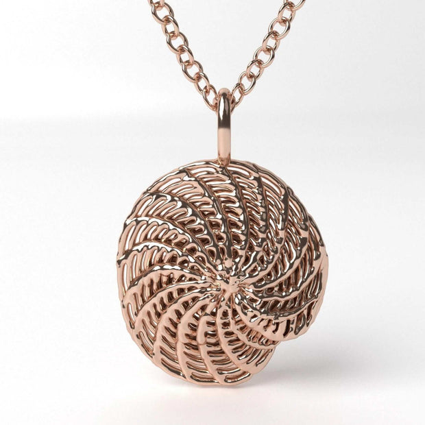 Elphidium Foraminifera Pendant Ontogenie Science Jewelry