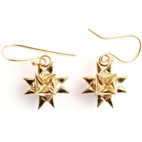 Fröbelstern Earrings - German Christmas Star [Ontogenie Science Jewelry]