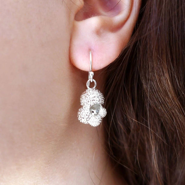 Globigerina Foraminiferan Earrings Earrings [Ontogenie Science Jewelry]