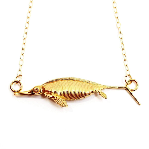 Ichthyosaur Fossil Necklace Pendant [Ontogenie Science Jewelry]