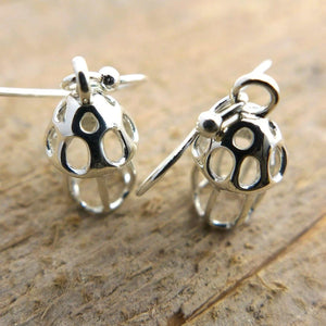Tintinnid Dictyocysta Lepida Earrings Earrings [Ontogenie Science Jewelry]
