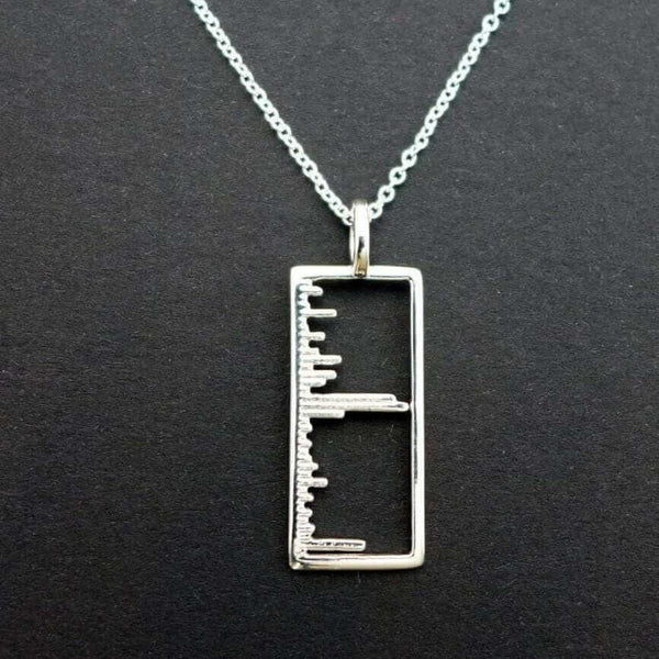 Science Jewelry: Mass Spectrum pendant in polished silver