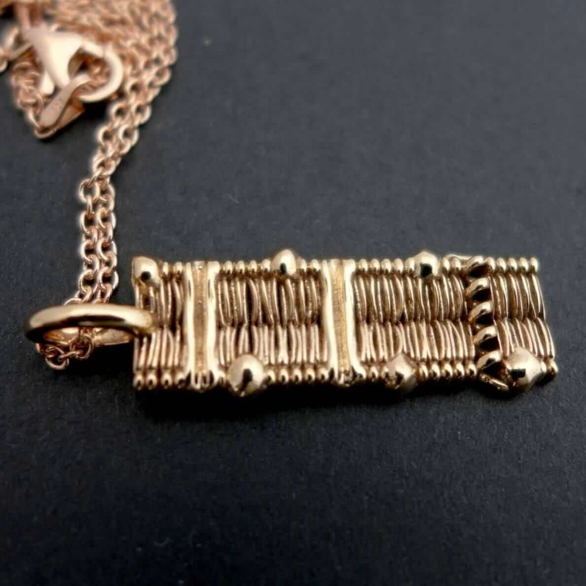 Science Jewelry: cell membrane pendant in bronze
