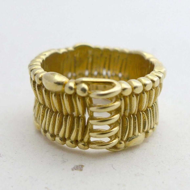Cell Membrane Ring in polished brass